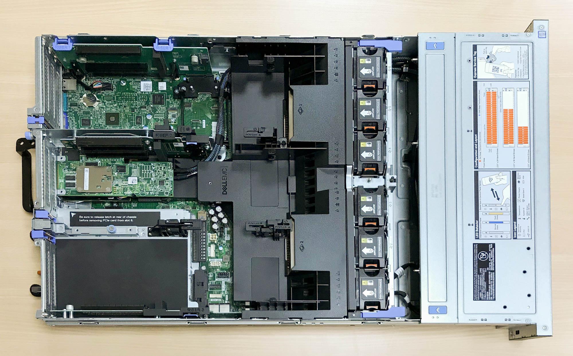 Dell R740 內裝